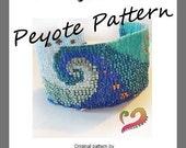 Swirl Peyote Pattern Bracelet - For Personal Use Only PDF Tutorial