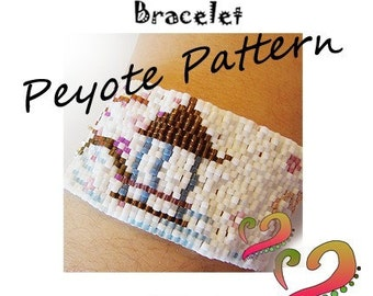 Oriental Peyote Pattern Bracelet - For Personal Use Only PDF Pattern - Japanese Garden Peyote Pattern