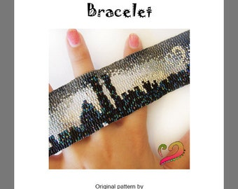 New York Lovers Bracelet - For Personal Use Only PDF Peyote Pattern