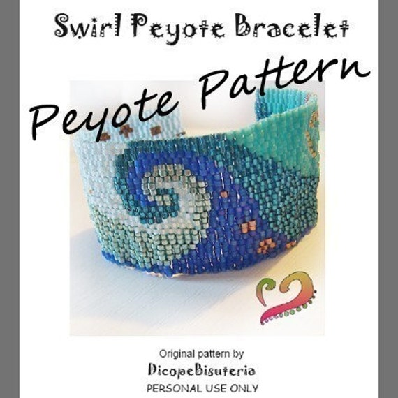 Swirl Peyote Pattern Bracelet - For Personal Use Only PDF Tutorial