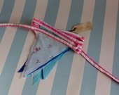Bunting made with vintage fabrics 3.5 metres