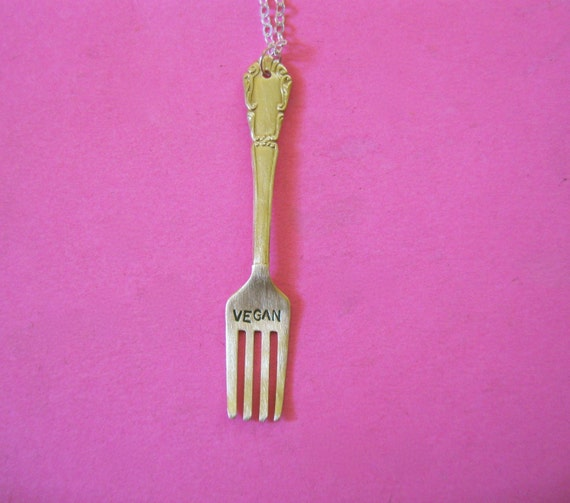 Vegan Fork Necklace