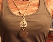 Peacock Brothel Coin Necklace