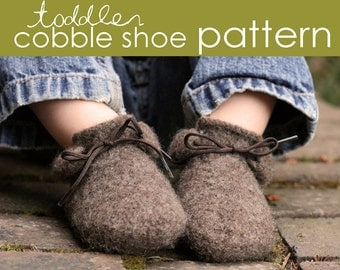 Toddler Cobble Shoe PDF PATTERN - (1, 2, and 3 years)