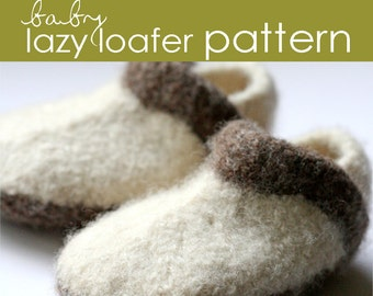 Baby Lazy Loafer PDF PATTERN - (3-6 and 6-12 months)
