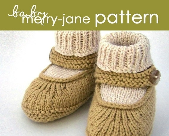 Baby Merry-Jane PDF PATTERN - (1-6 and 6-12 months)