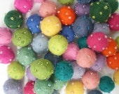 Felt Balls Grab Bag - 50 Beaded Felt Balls