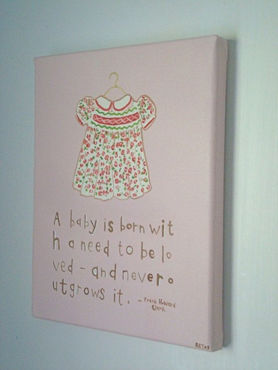 Smocked Dress with Quote (8x10 Canvas)