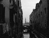 Venezia 5x5 Hand Processed Black and White Print