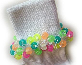 Kathy's Beaded Socks - Glow in the Dark socks, Halloween socks, girls beaded socks