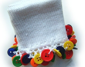 Kathy's Beaded Socks - Primary Button socks, girls socks, button socks, red socks, yellow socks, navy socks, school socks