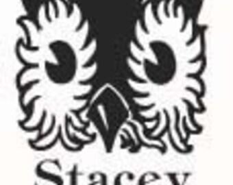Storybook Owl Childrens Custom  Rubber Stamp Bookplate Ex Libris E26