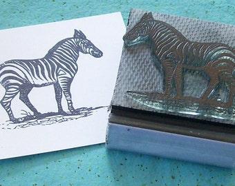 Zebra Rubber Stamp 047