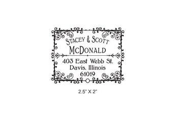 Soda Pop Vintage Personalized Return Address Rubber Stamp AD169