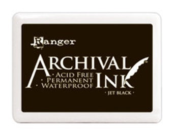 Jet Black Jumbo Archival Ink Pad Ranger Industries