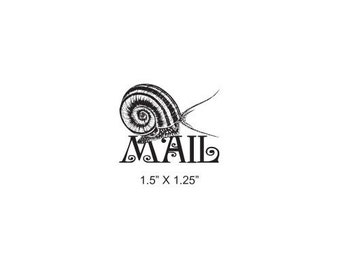 Snail Mail Rubber Stamp 390