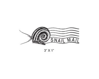 Snail Mail Post Mark Mail Art Rubber Stamp 384