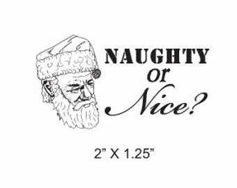 Miracle on 34th Street Santa Naughty or Nice Rubber Stamp 206