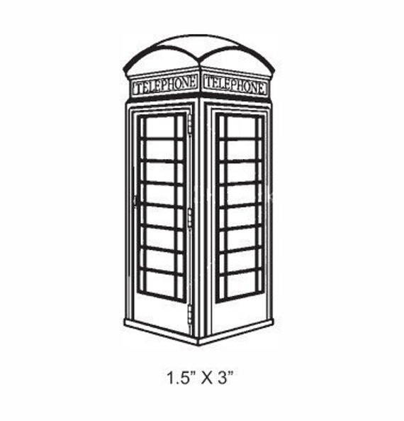 British Phone Booth Rubber Stamp 186