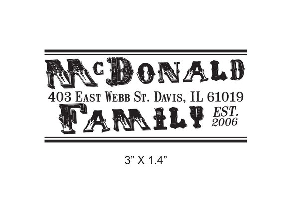 Vintage Advertising Style Custom Return Address Rubber Stamp AD142