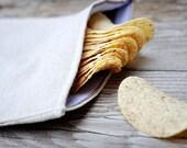 Reusable Sandwich Bag - Reusable Snack Bag - Plain - Large Size - Eco Friendly
