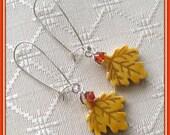 Fall Leaves - Red Maple - Autumn Dangle Earrings - EANGTEAM - BHV - Louisiana