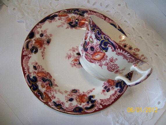 Antique 1907 Arcadia Pattern Tea Cup Plate Set