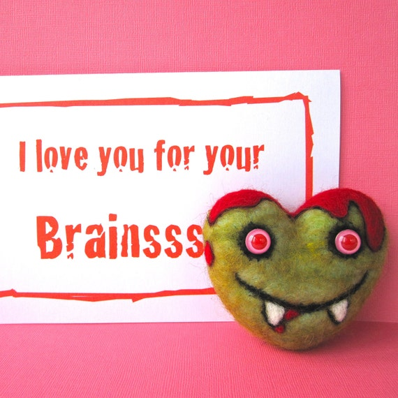 Life-Sized Zombie Heart and Card