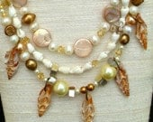 Antique Cove Bellarosa Necklace with Cut Shell Drops