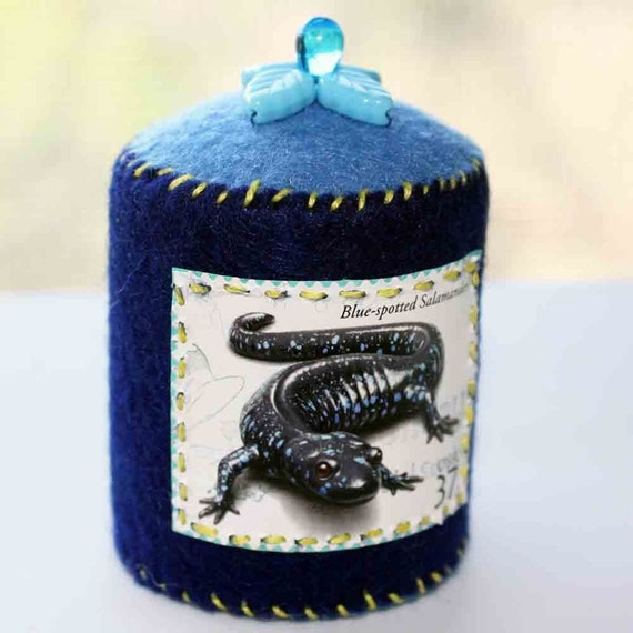 Blue Spotted Salamander Pincushion