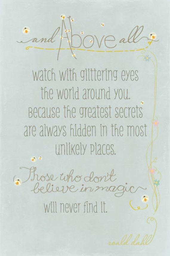 Fireflies... Roald Dahl quote