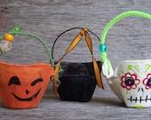 3 halloween egg carton creations