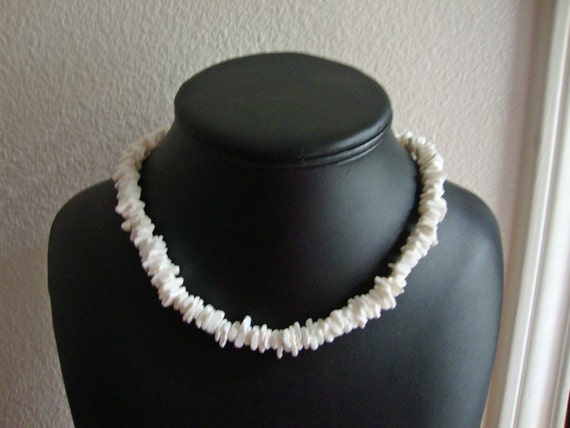 SALE - White Puka Shell Necklace