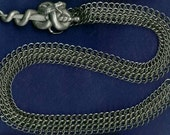 Reserved for Goldenlion21 Chain Maille Belt with Dagger and Serpent Buckle