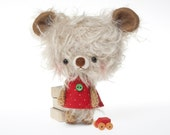 mohair bear plushie stuffed toy -made to order- Miu -