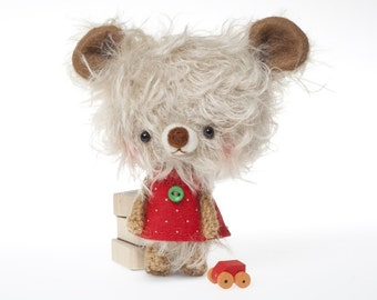 mohair bear plushie stuffed toy -made to order- Miu -