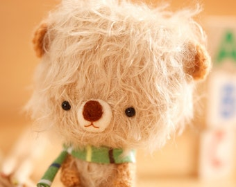 Plushie toy, teddy bear softie - made to order - momo