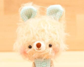stuffed animal bunny / amigurumi teddy bear toy, miniature plushie - Dumo