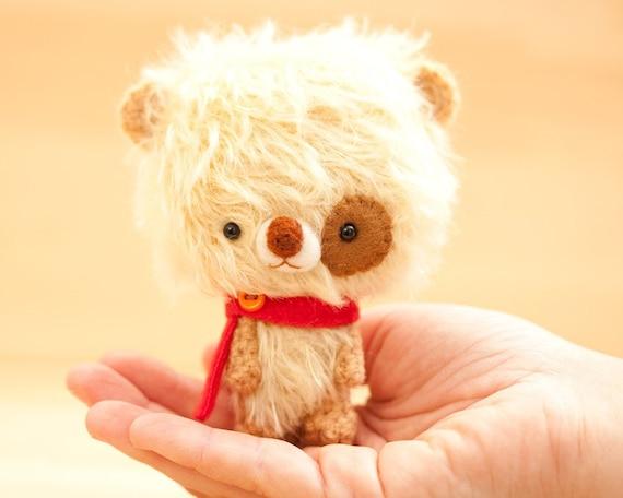 Teddy bear plush toy / miniature plushie - made to order - Mikun -