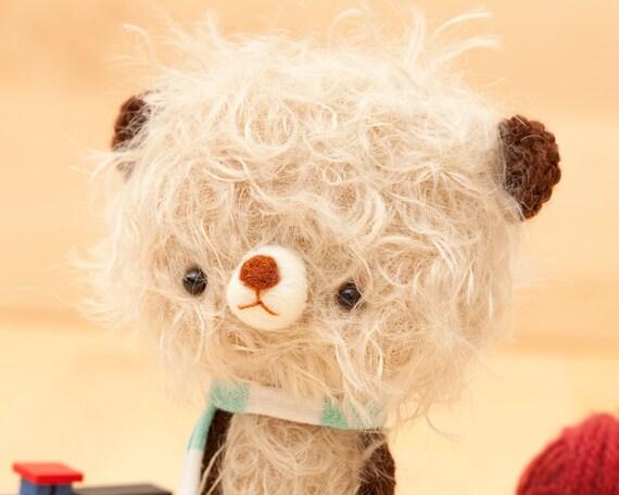 miniature bear plushie toy -made to order- Teo -