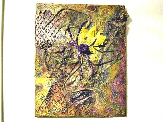 Mixed Media Collage  Wall Art