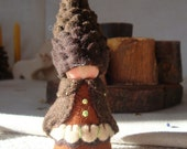 Tall Pine Cone Gnome Waldorf Storytelling Natural dollhouse doll Beskow