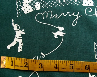 SALE - Aunt Grace Ties One On For The Holidays - OOP - Green Fabric  - 1 Yard - 7.95 Dollars