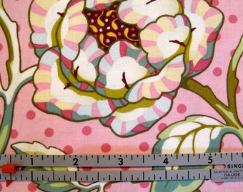 Freshcut - Cabbage Rose - Pinky Purple - Fabric by Heather Bailey - 1 Yard - 9.85 Dollars
