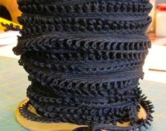 Black Loop Lace Trim -  5 yards For 6.00 Dollars
