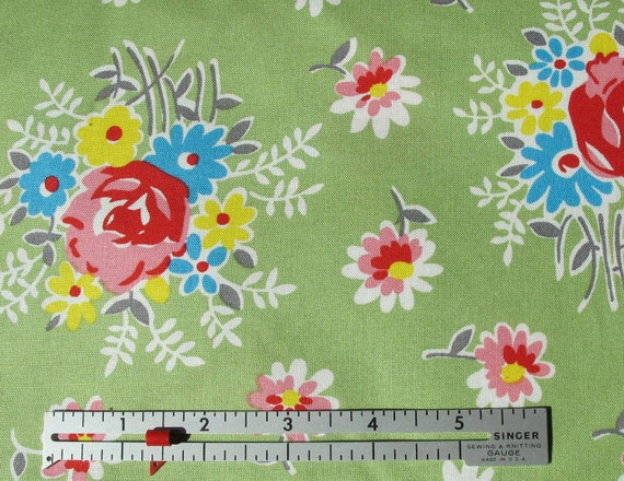 SALE - Sugar Creek Fabric Collection by Denyse Schmidt - Whimsy Bouquet Meadow - 7.25 a Yard