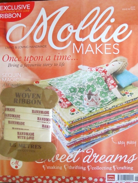 Mollie Makes Magazine - Issue 15 and Happy Birthday Issue 14 - With Extra DIY Wedding Guide - 17.00 Dollars
