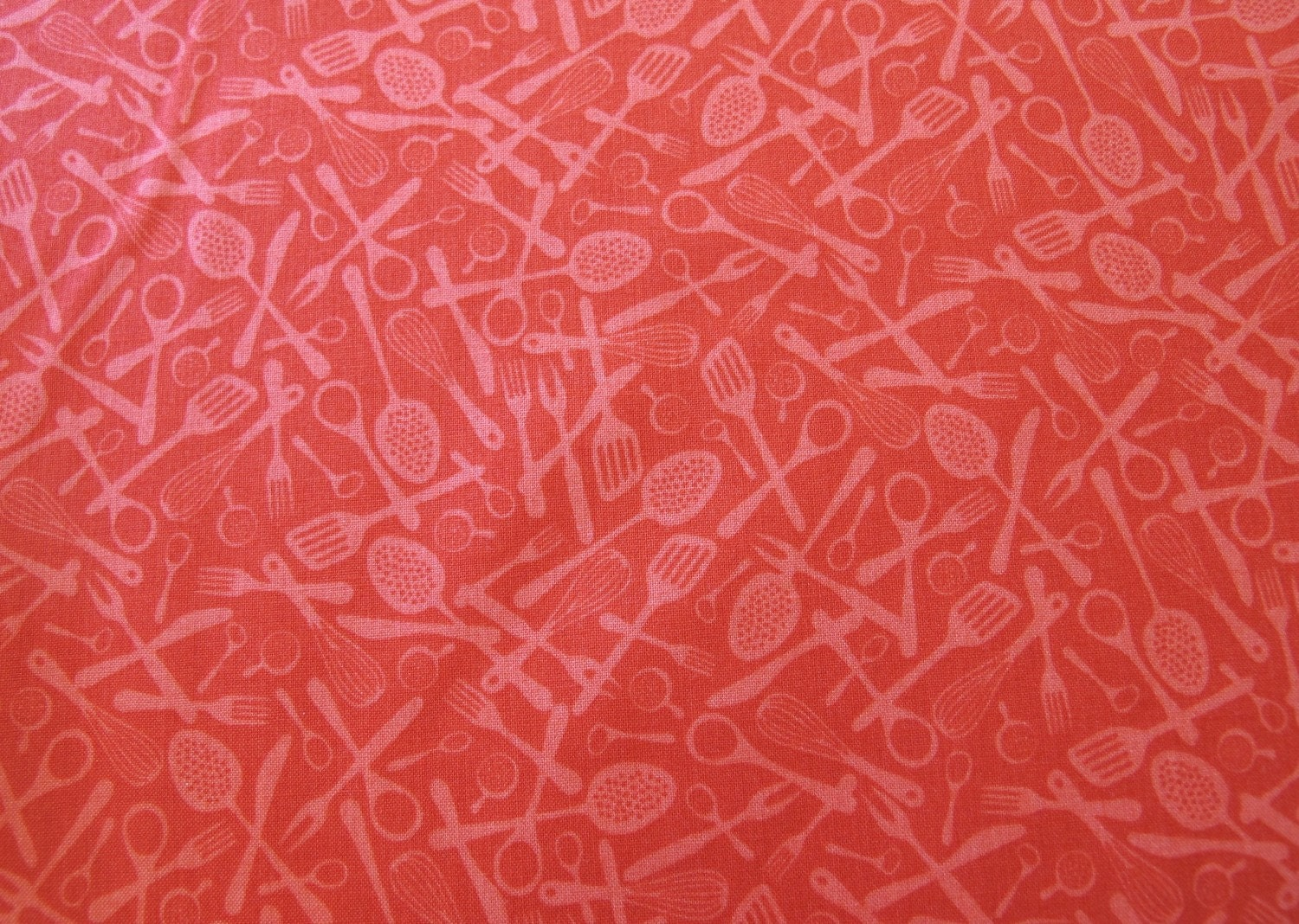 Kitchen Utensils Background last 3/4 yard modern kitchen red utensils 5.25 dollars