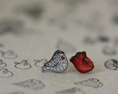 Heart Sparrow - Earring Studs
