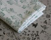 Sticks Fabric - Moss Green - Small Piece
